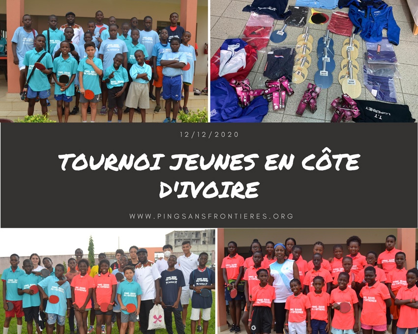 Youth tournament organised by the Ivorian Table Tennis Federation in Cocody