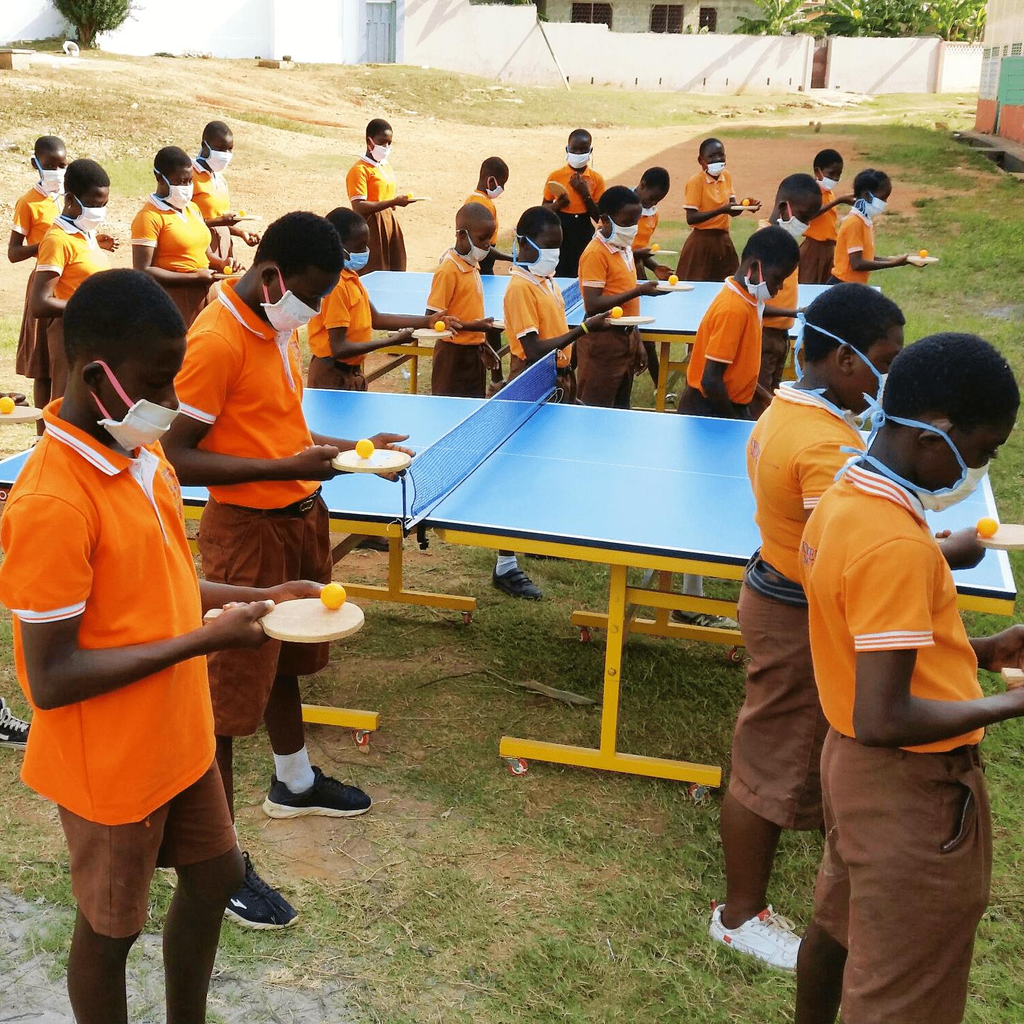 Les entraînements continuent au Ghana !