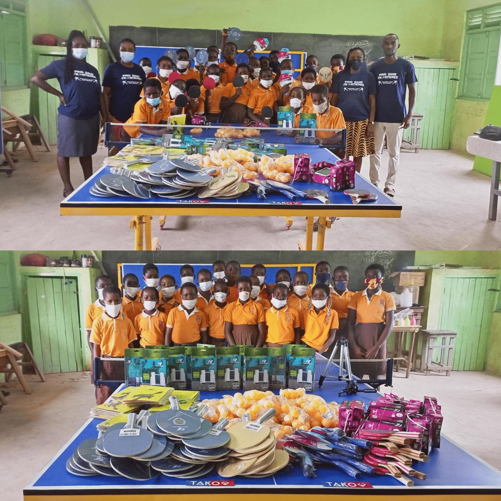 Donation aux enfants d'Edudrive au Ghana