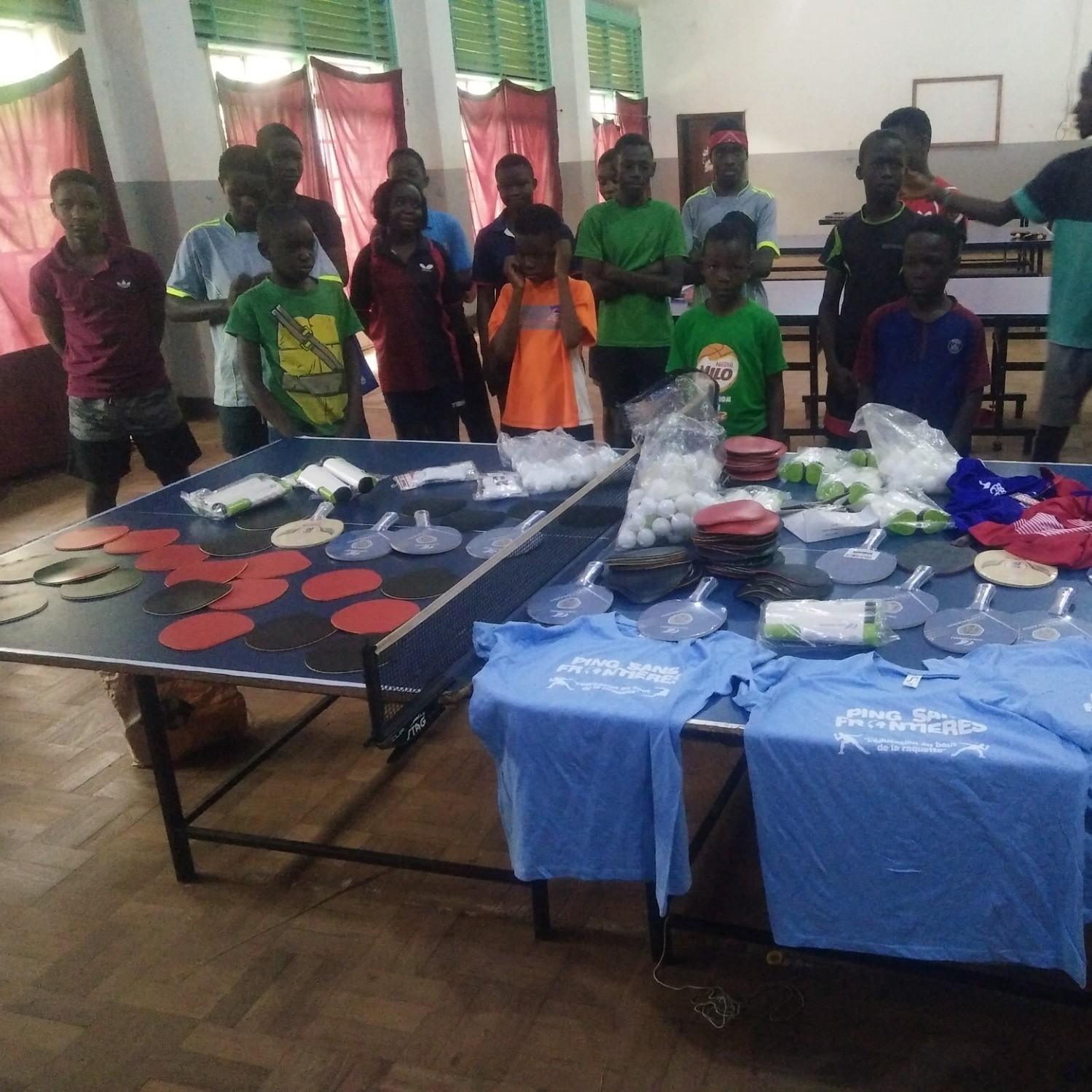 Equipment donation in Uganda